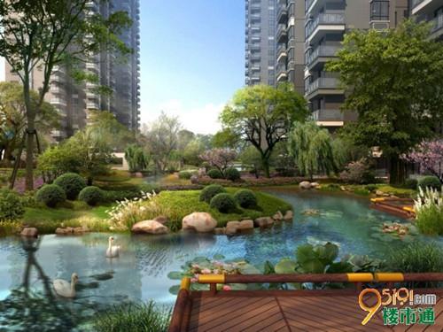 在北方城市能欣赏到南方的水景园林确实很难得.