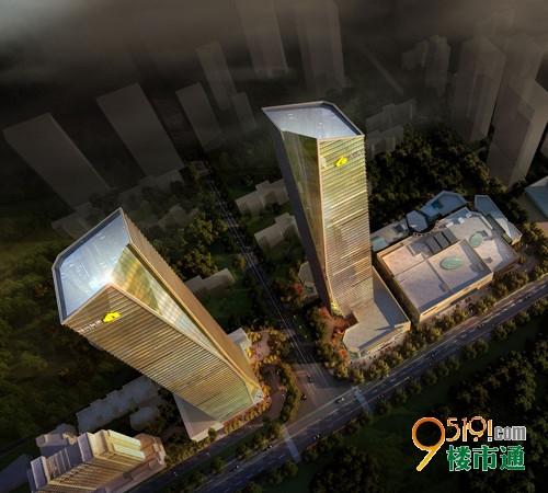西北最高双子塔 西安绿地中心摩天精装办公楼