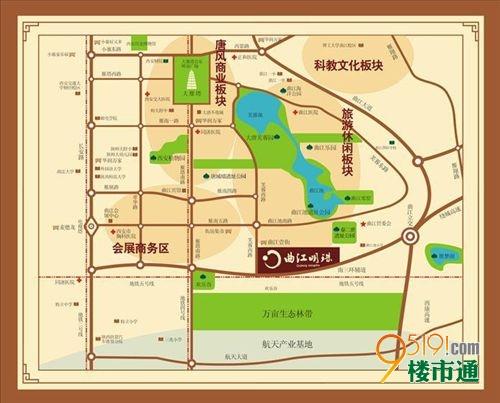 项目东北方向,是大雁塔南广场.