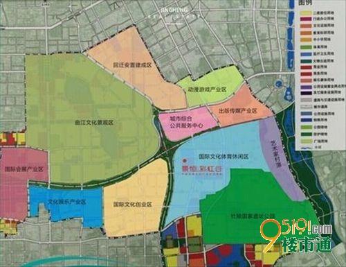 (曲江qcic板块功能划分区域图)
